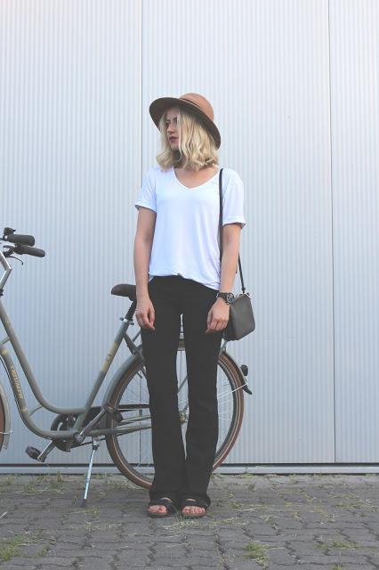 Flares & White Shirt