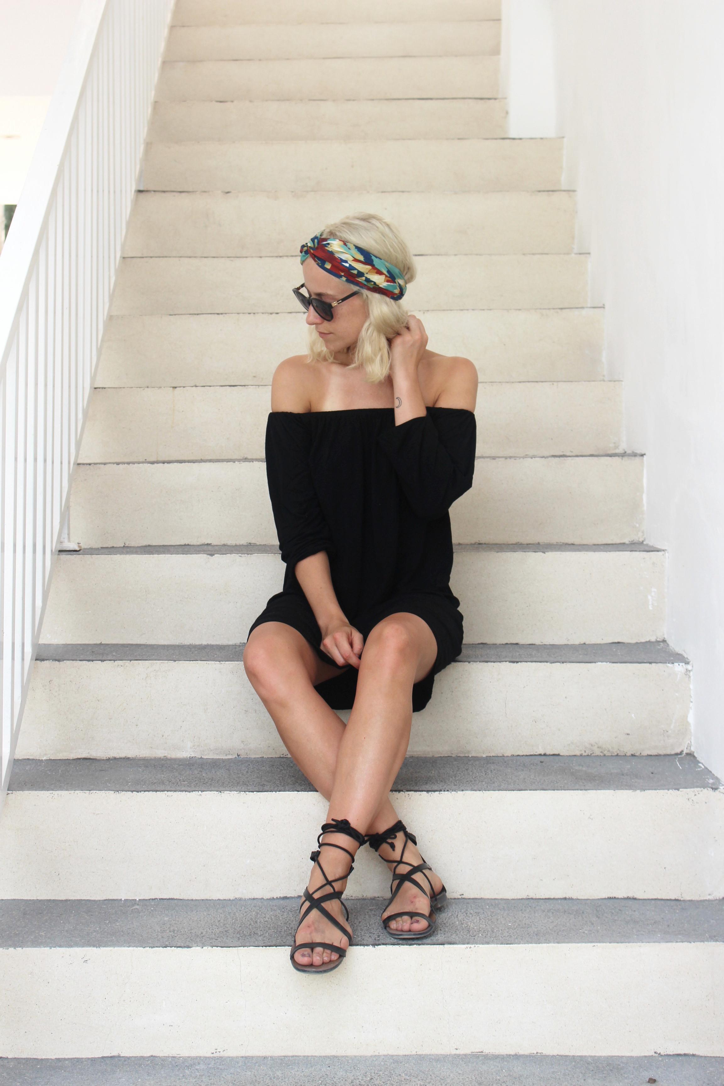 black-off-shoulder-dress