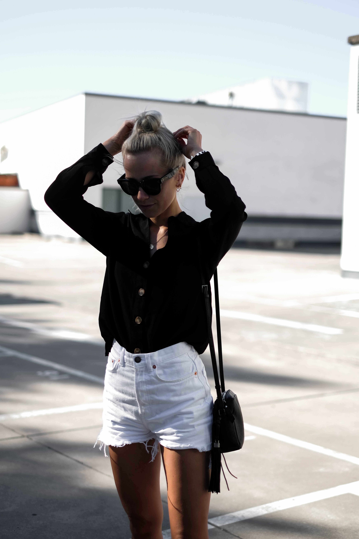 wei e jeans shorts kombinieren white denim shorts goldencherry. Black Bedroom Furniture Sets. Home Design Ideas